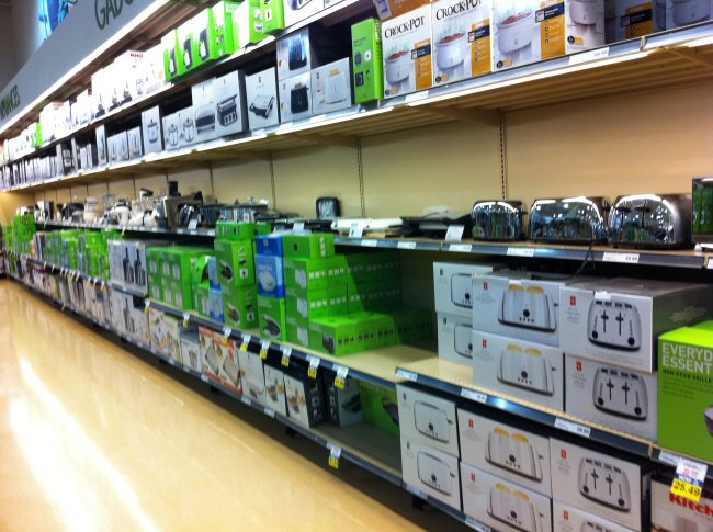 Atlantic Superstore's toaster isle