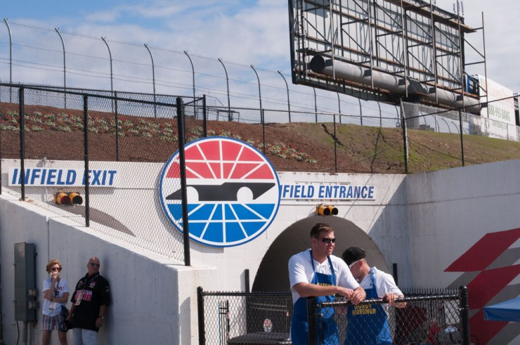 Entrance to the infield