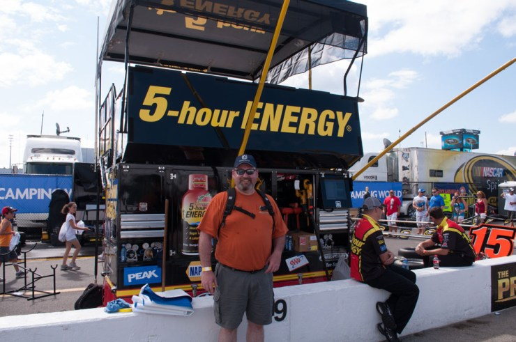 Jeff at Clint Bowyer's pits