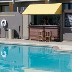 Pool had a bar