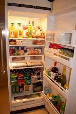 Our fully stocked fridge