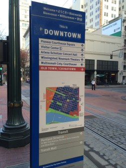 Portland has great transportation and signs