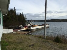 The Country Harbour ferry after we got off