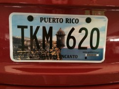 Never saw a Puerto Rico license plate before!