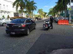 Lots of police in Old San Juan.