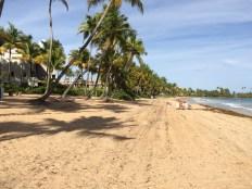 Beach at hotel.