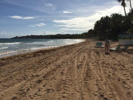 Clean sand.