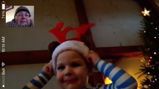 Christmas morning Facetime with my niece and nephew.
