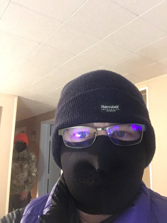 Me in toque and face mask