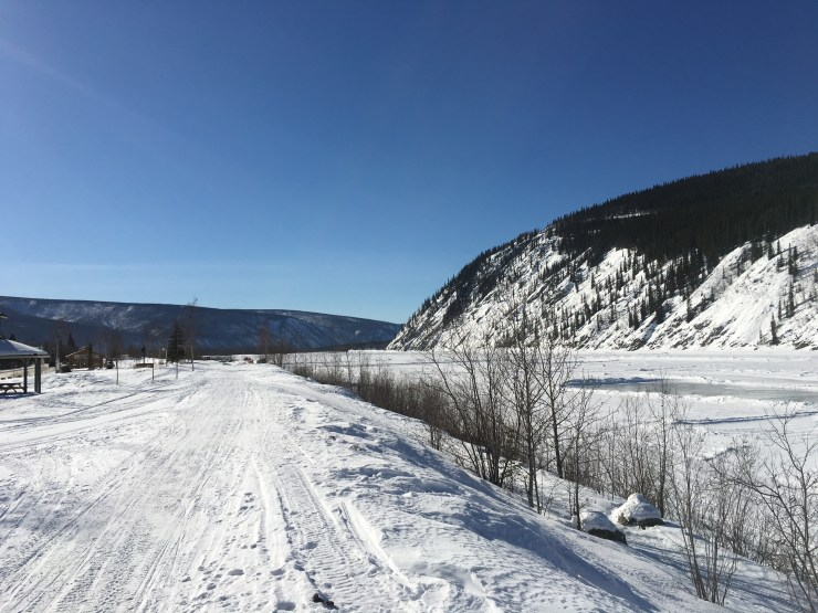 Heading south along the Yukon River.