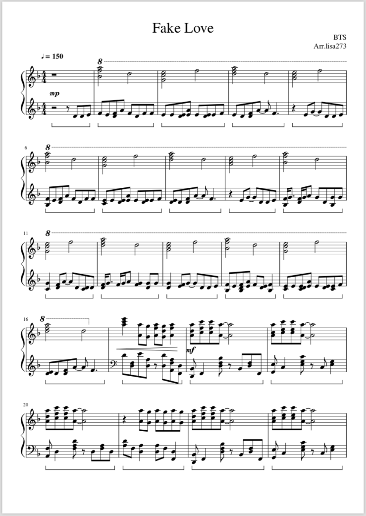 Kpop Sheet Music : sheet, music, Sheet, Music, Piano