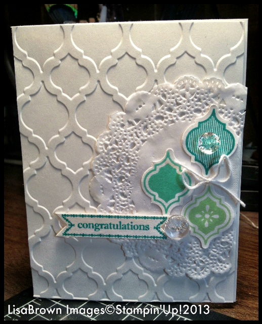 Stampin Up Mosaic Madness Wedding Card Ink And