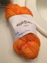 Tangerine - using KnitPicks Felici