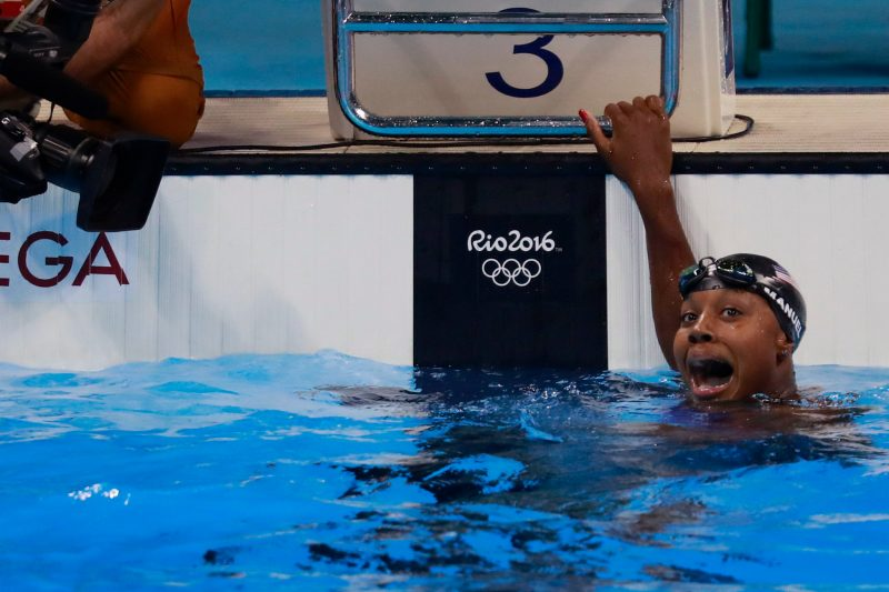 first African-American woman to win an individual swimming medal in an Olympics