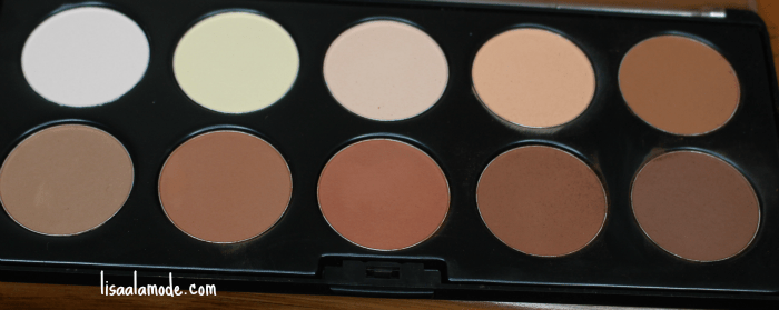 BH Cosmetics Studio Pro Contour Palette Review-on-dark-skin