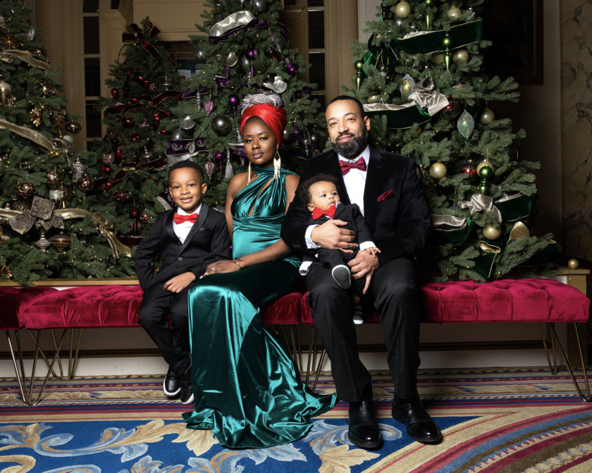 holiday pictures of a black family