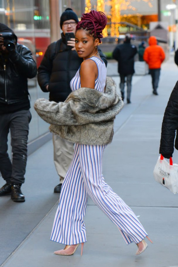 NEW YORK, NY - DECEMBER 15: Actress/Singer Keke Palmer is seen walking in Soho on December 15, 2016 in New York City. (Photo by Raymond Hall/GC Images)