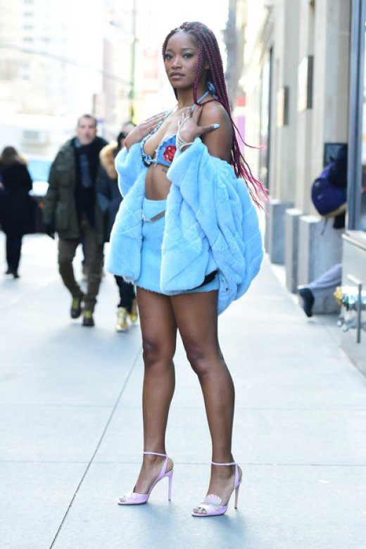 NEW YORK, NY - DECEMBER 16: Actress/Singer Keke Palmer is seen in Midtown on December 16, 2016 in New York City. (Photo by Raymond Hall/GC Images)