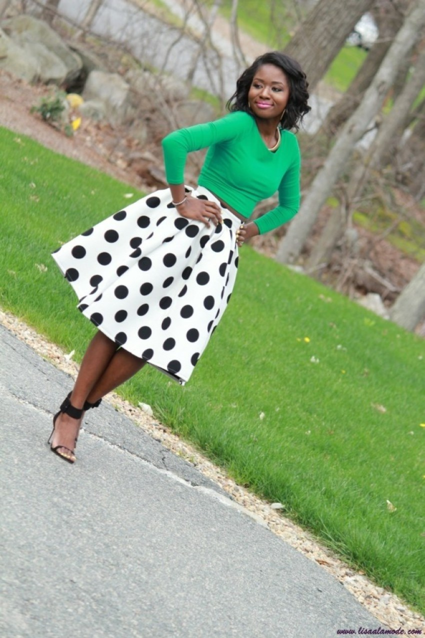 what-to-wear-with-a-polka-dot-skirt-choies