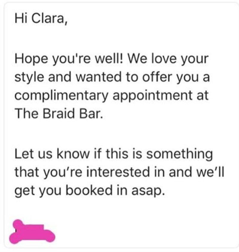DJ Clara Amfo braid bar