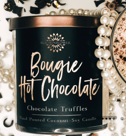 bougie hot chocolate candle