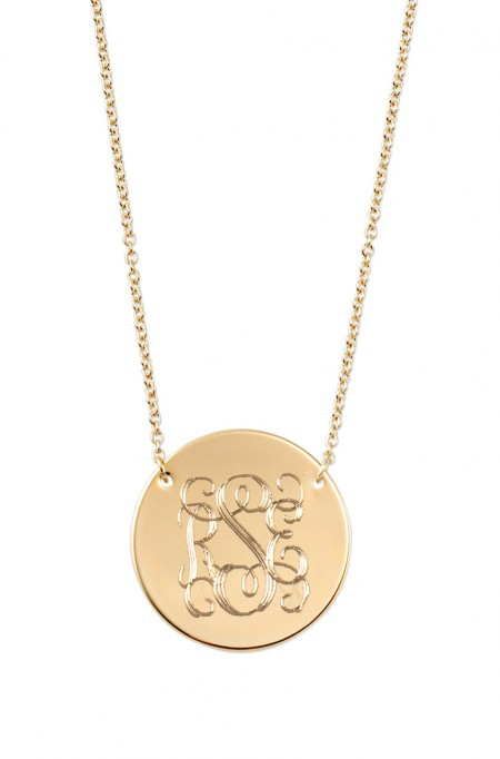 Stella & Dot Signature Engravable Disc Necklace