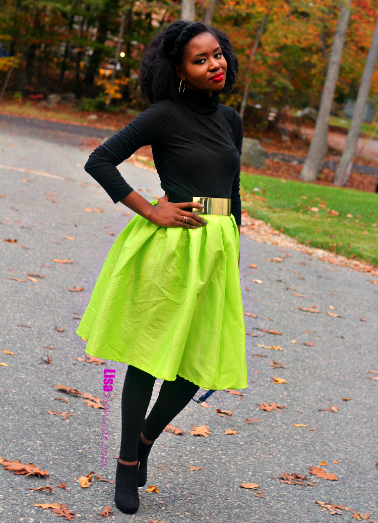 sheinside-lime-green-midi-skirt