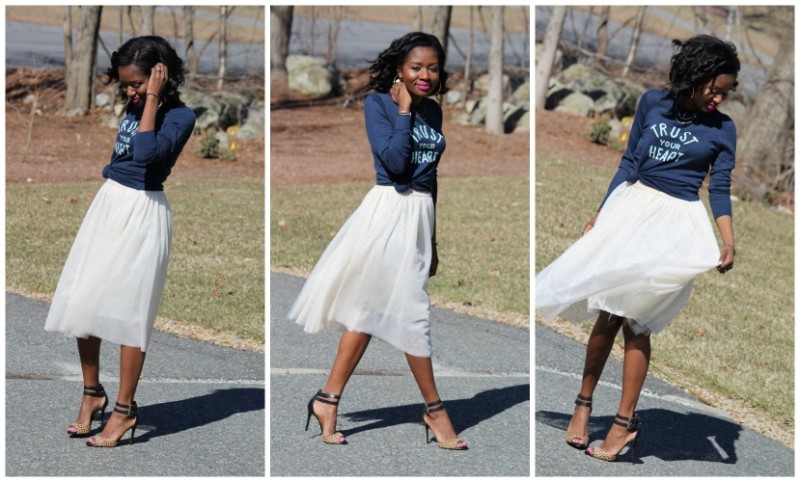 Wearable Tulle Skirt Outfit of the Day: Springtime Chic