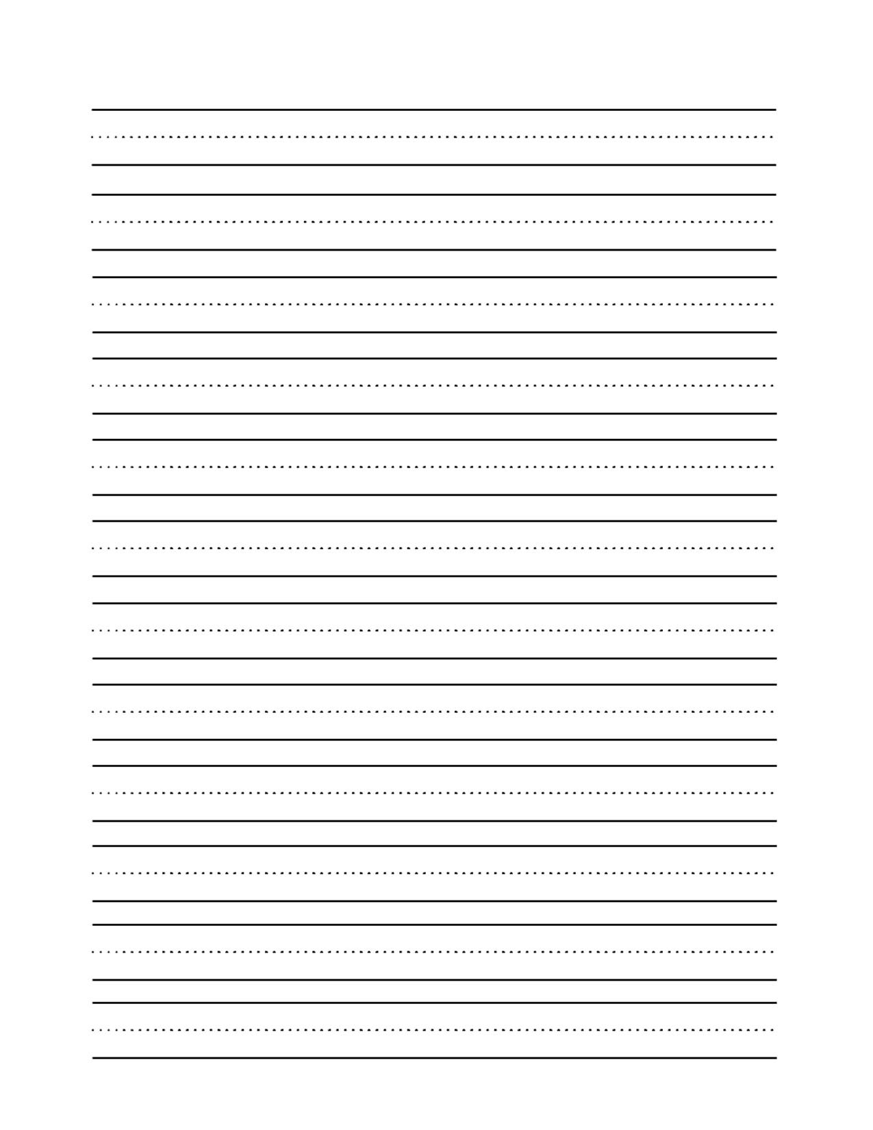 Printable Handwriting Paper 1st Grade