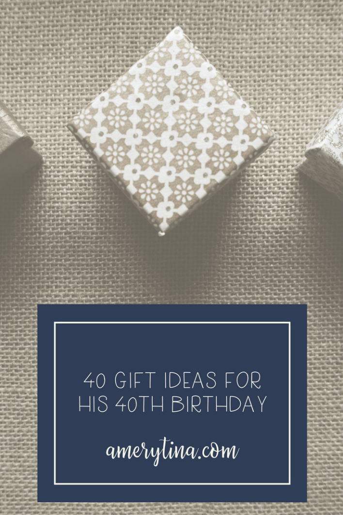 40 gift ideas for your husband or boyfriend's 40th Birthday! #giftsforhim #giftguide #birthday