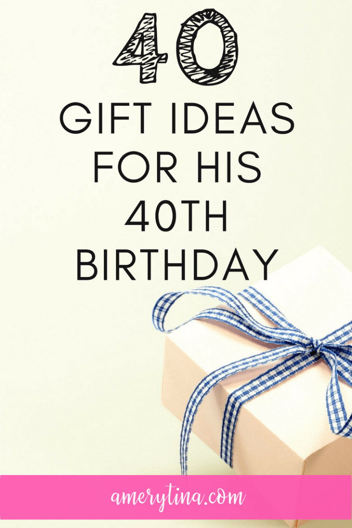 For my husband's 40th birthday I wanted to do something unique (and on a budget) so I pulled together 40 gifts from my heart! From DIY to change to high-end, here's all 40 gifts to help you with ideas! #giftguide #giftsforhim #hubby #birthday #giftideas