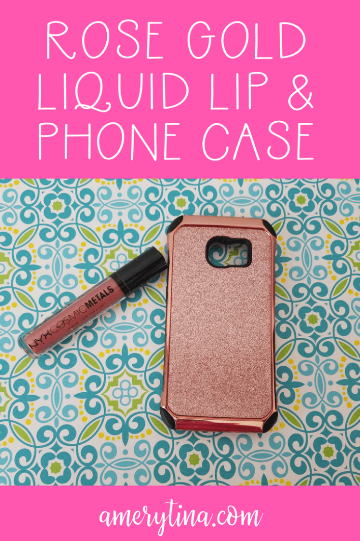 Rose gold NYZ lipstick and Samsung phone case are the best Spring accessories! | lisaalfaro.com #lipcolor #rosegold #nyx