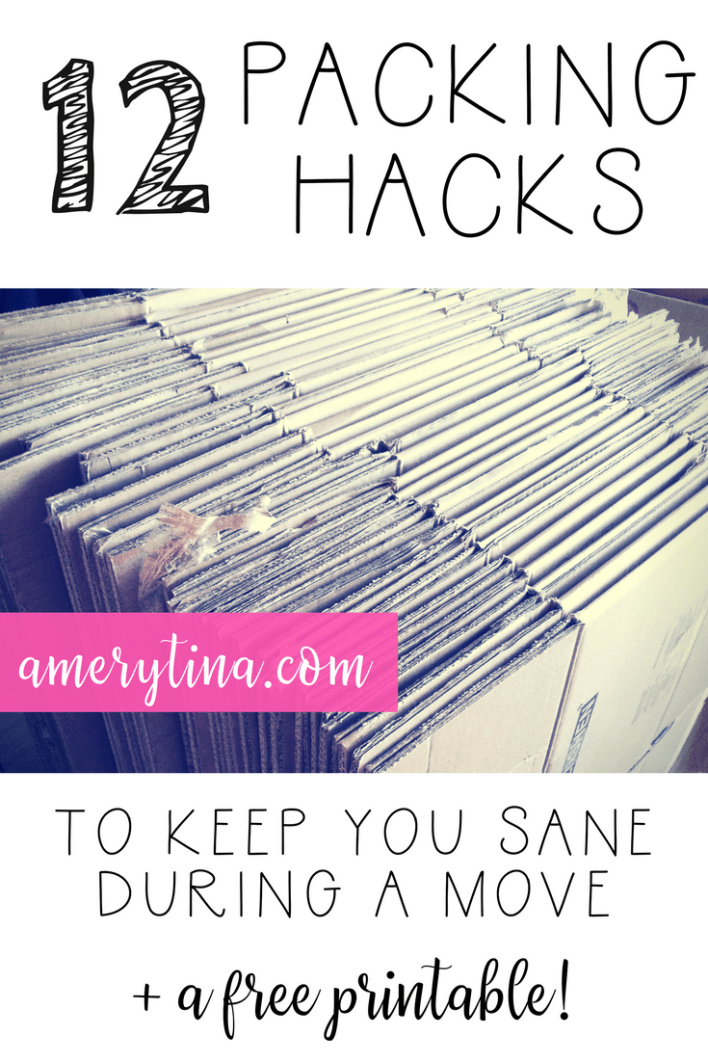 12 packing hacks to keep you sane during a move + a free printable | lisaalfaro.com #realestate #moving #pack #howto #momlife