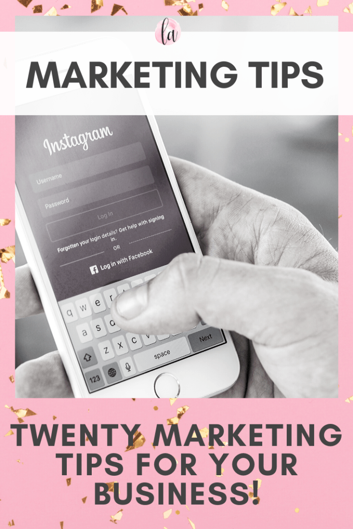 Marketing tips - twnty marketing tips for your business
