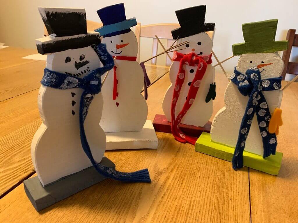 Wooden Snowmen Craft Hobby