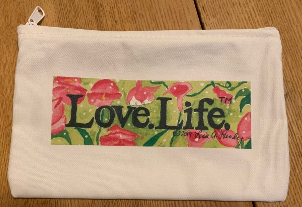 Picture of Large Love.Life. Zipper Pouch