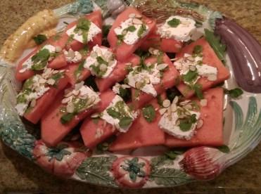 watermelon salad platter