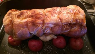 roast pork ready for the oven