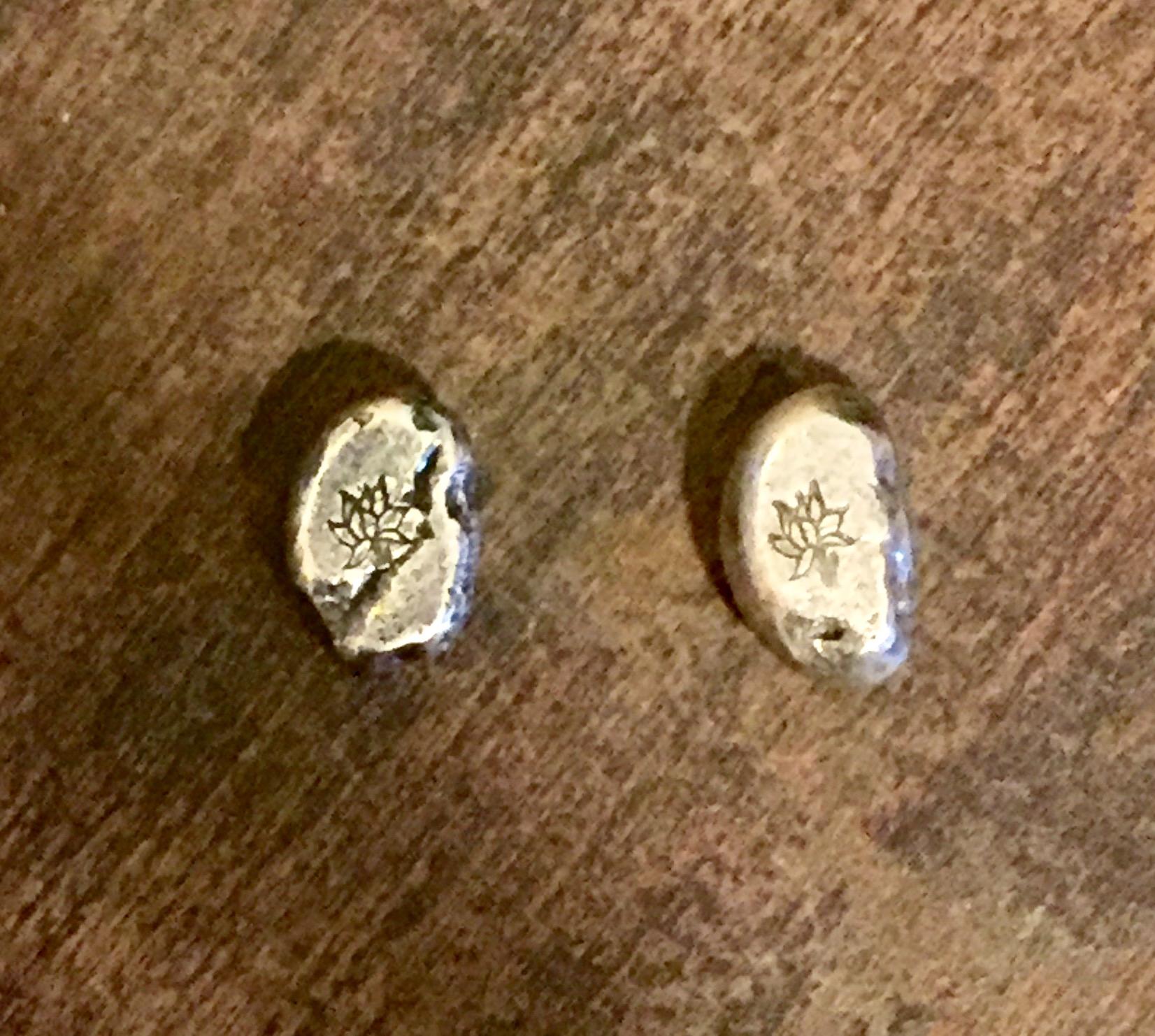 Tiffany Co Sterling Silver Elsa Peretti Bean Earrings 33161
