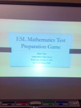 Powerpoint presentation used to test prep for examines.