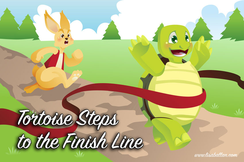 9 Tortoise Steps to the Finish Line