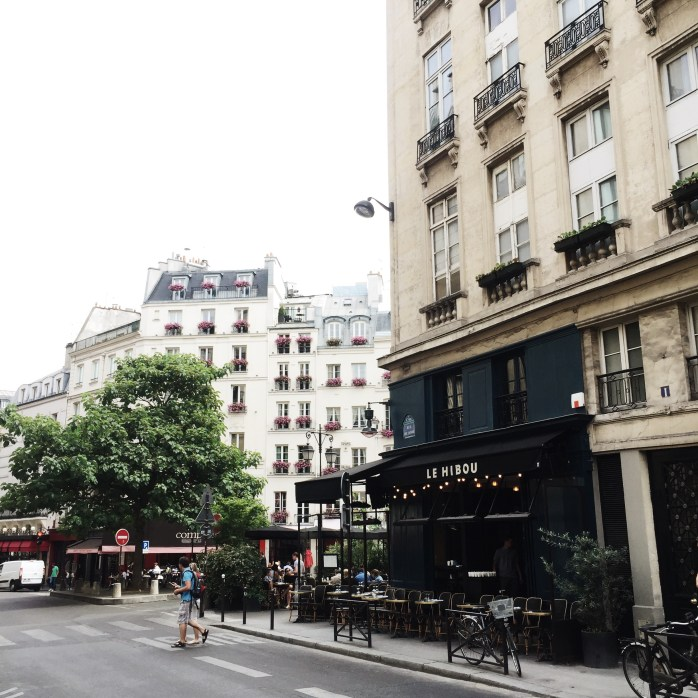 Walking the streets of Paris.