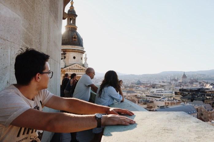 Calin atop St. Stephen's Basilica.