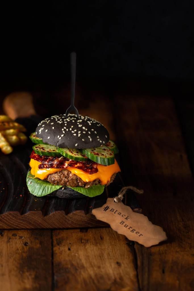 burger food styling