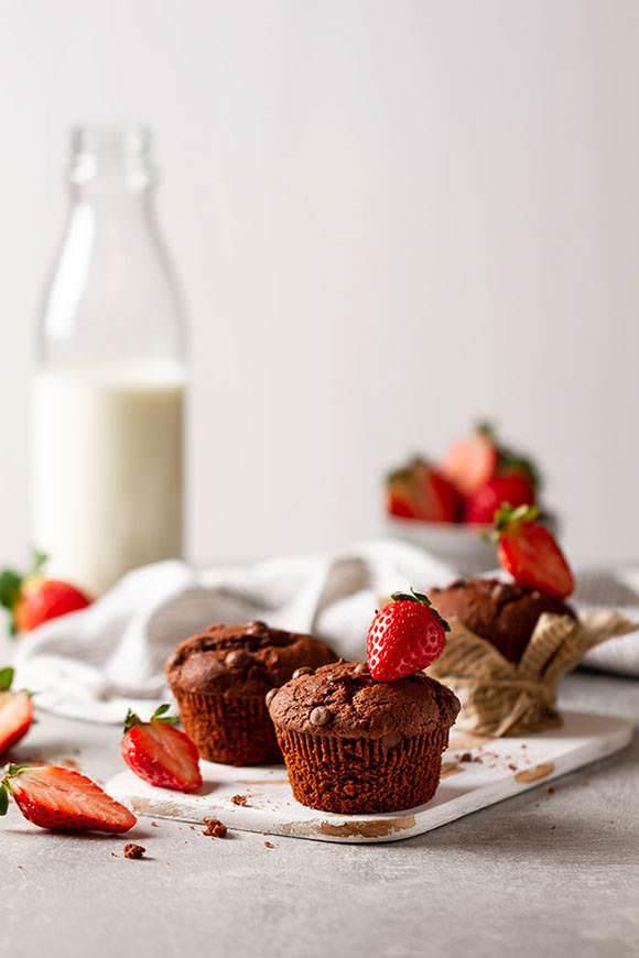 schoko muffin Lebensmittelfotografie