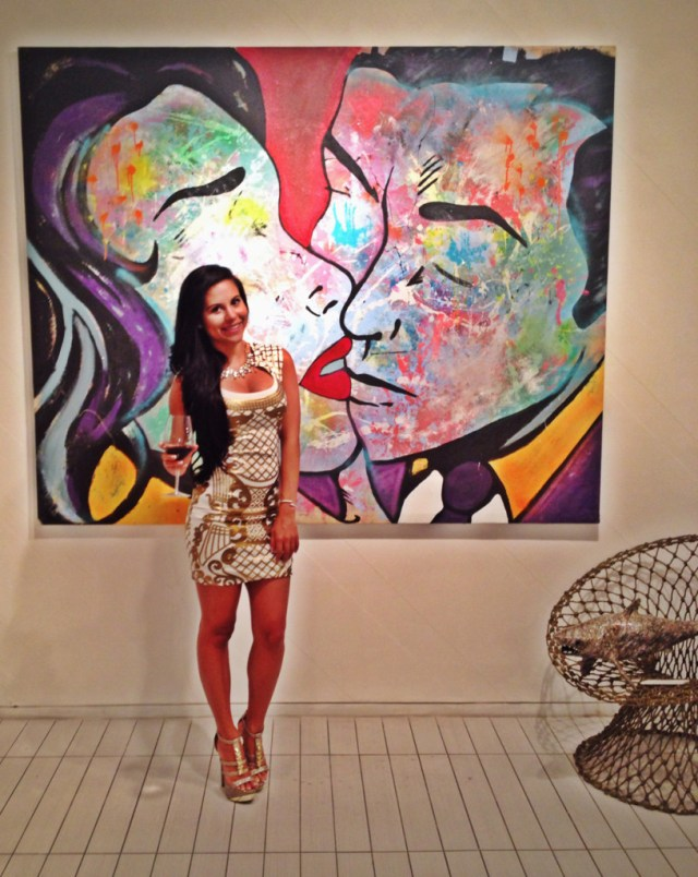 Art at Villa Azur Dress: Arden B Shoes: Go Jane