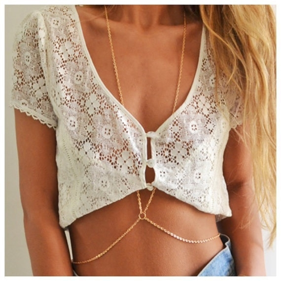 Necklace body chain