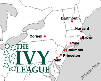 Ivy League Schools Locations Map Lisa Boerum