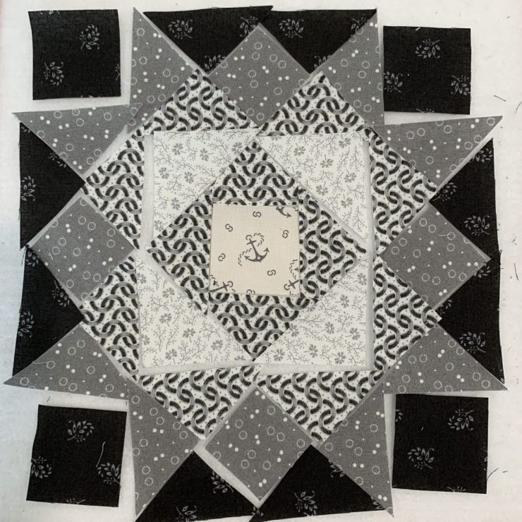 Moda Block Heads 3 Quilt Along Project Block 15 featured by top US quilting blogger, Lisa Bongean