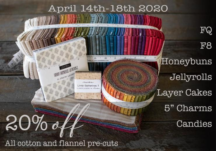 Big Quilting Sale on PRE CUT Fabrics featured by top US quilting blogger, Lisa Bongean